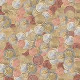 Tenge van het textuur euro muntstuk Stock Fotografie