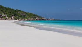 Tenger Anse-strand op La Digue Seychellen stock fotografie