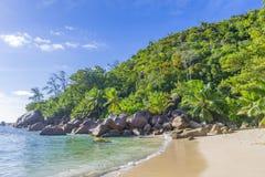 Tenger Anse-strand, Seychellen royalty-vrije stock foto