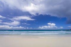 Tenger Anse-strand, Seychellen stock afbeelding
