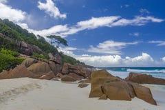 Tenger Anse-strand, Seychellen royalty-vrije stock foto's