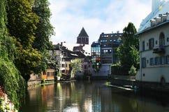 Tenger-Frankrijk, Straatsburg, Frankrijk, de Elzas stock fotografie
