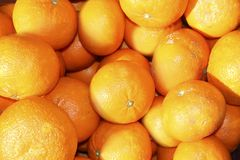 Tengerine oranges on mediterranean market Stock Photos