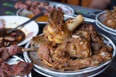 Tengkleng indonesian food. Tengkleng. goat meat with ribs and bone cooked with soup stock photography