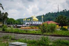 Tengku Ahmad moské, Jerantut, Pahang Arkivbilder