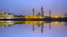 The Tengku Ampuan Jemaah Mosque, Bukit Jelutong, Malaysia mosque Royalty Free Stock Photo