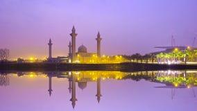 The Tengku Ampuan Jemaah Mosque, Bukit Jelutong, Malaysia mosque Royalty Free Stock Images