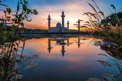 Tengku Ampuan Jemaah Mosque, Bukit Jelutong, Maleisië Stock Fotografie