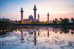 The tengku ampuan jemaah mosque Royalty Free Stock Photography