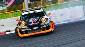 Tengku Djan drifting at Formula Drift 2010 Royalty Free Stock Images