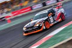 Tengku Djan drifting his car at Formula Drift 2010 Royalty Free Stock Photo