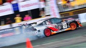 Tengku Djan drifting his car at Formula Drift 2010 Stock Photos