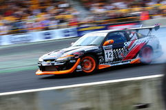 Tengku Djan drifting his car at Formula Drift 2010 Stock Image