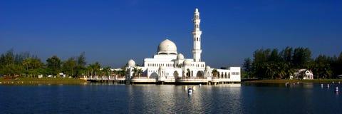 Tengku Tengah Zaharah Mosque. The Tengku Tengah Zaharah Mosque or the Floating Mosque is the first real floating mosque in Malaysia. It is situated in Kuala Ibai Stock Image