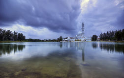The Tengku Tengah Zaharah Mosque or the Floating Mosque is the f Stock Photos