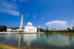 The Tengku Tengah Zaharah Mosque or the Floating Mosque Stock Photos