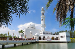 The Tengku Tengah Zaharah Mosque or the Floating Mosque Royalty Free Stock Images