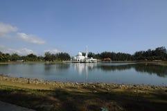 Tengku Tengah Zaharah Mosque in Terengganu Stock Photos
