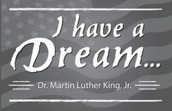 Tengo Martin Luther King Jr ideal día imagen de archivo libre de regalías
