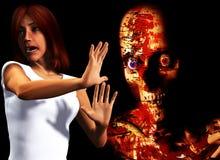 Tengo miedo de zombis Fotos de archivo libres de regalías