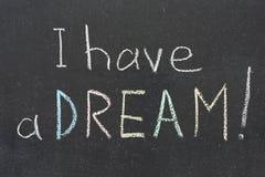 Tengo un sueño Imagen de archivo libre de regalías