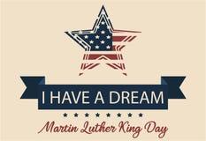 Tengo un sueño Día de Mlk Foto de archivo