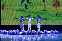 Tengo una exposición de enseñanza de clasificación Jiangxi del logro de los niños de la prueba de Pekín de la academia ideal de l imagen de archivo libre de regalías