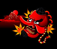 Tengu mask Stock Images