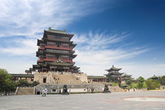 The tengwang pavilion. Is ancient famous architecture in nanchang,China Royalty Free Stock Photo