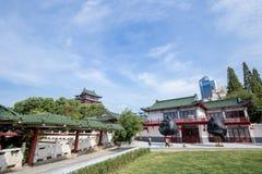 The Tengwang pavilion in Nanchang. Nanchang, Jiangxi province, China - September 2017 : Area in front of The Tengwang pavilion in nanchang, one of the four stock image