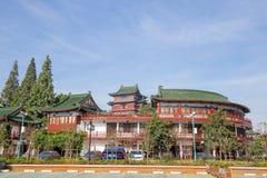 The Tengwang pavilion in Nanchang. Nanchang, Jiangxi province, China - September 2017 : Area in front of The Tengwang pavilion in nanchang, one of the four royalty free stock photos