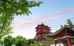 Chinese Classical Architecture. Tengwang Pavilion,Nanchang,traditional, ancient Chinese architecture, made of wood Royalty Free Stock Photo