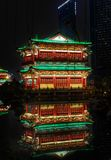 Tengwang Pavilion reflection night scene stock photo