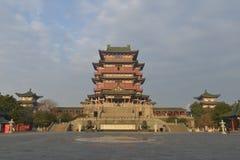 Tengwang paviljong i Nanchang, Jiangxi landskap, Kina Royaltyfria Foton