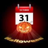 Tenha Dia das Bruxas muito assustador! Foto de Stock Royalty Free
