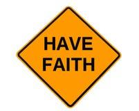 Tenha o sinal da fé imagens de stock