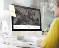 Tenha o Web site do botão do registro da discussão fotografia de stock royalty free