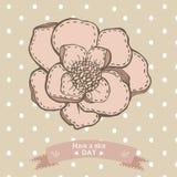 Tenha um cartão do dia agradável com o desenho gráfico da mão Fotografia de Stock Royalty Free