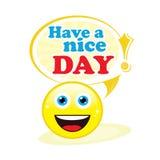 Tenha um dia agradável! ilustração royalty free