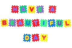 Tenha um dia bonito Foto de Stock Royalty Free