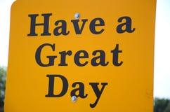 Tenha um grande dia! Foto de Stock Royalty Free