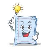 Tenha um projeto dos desenhos animados do caráter do caderno da ideia Imagem de Stock