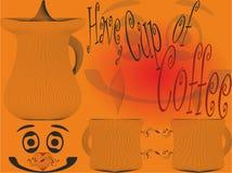 Tenha uma xícara de café, papel de parede, página da web Fotos de Stock Royalty Free