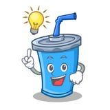 Tenha uns desenhos animados do caráter da bebida da soda da ideia ilustração royalty free