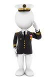 teniente de la gente blanca 3d libre illustration
