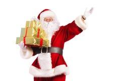 Tenir des cadeaux Image libre de droits