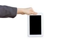 Tenir le PC numérique de comprimé Image libre de droits
