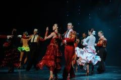 Tenir le premier rôle la danse du monde de l'Autriche d'appel-le de rideau Photos libres de droits