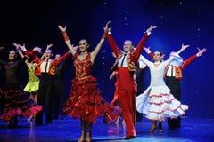 Tenir le premier rôle la danse du monde de l'Autriche d'appel-le de rideau Photos stock
