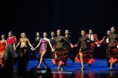 Tenir le premier rôle la danse du monde de l'Autriche d'appel-le de rideau Images libres de droits